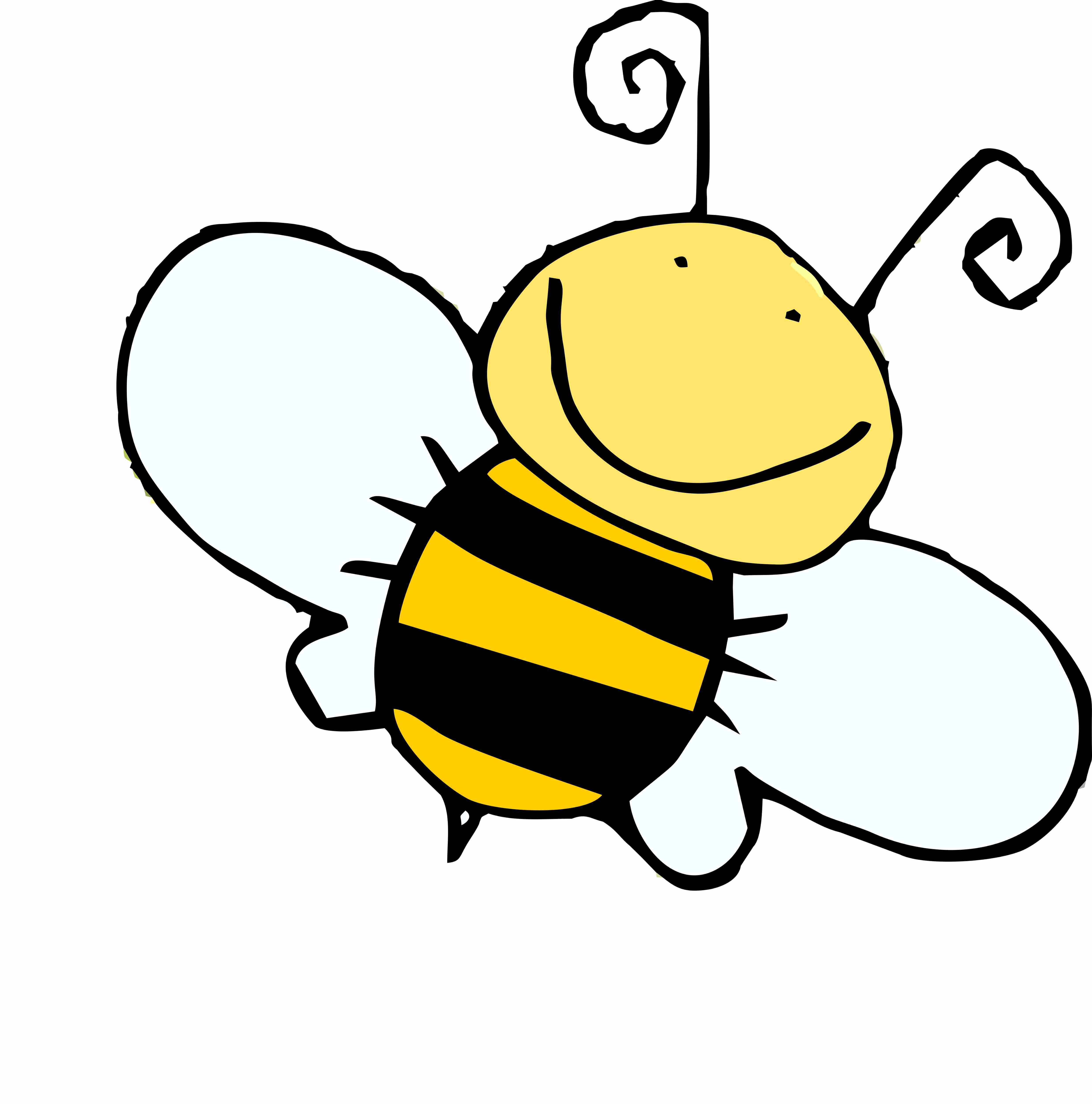 Bee clipart laughing png free stock Cartoon bee clipart - ClipartFest png free stock