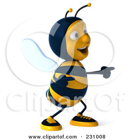 Bee clipart laughing jpg transparent 3d Bee Character Laughing And Pointing Posters, Art Prints by ... jpg transparent
