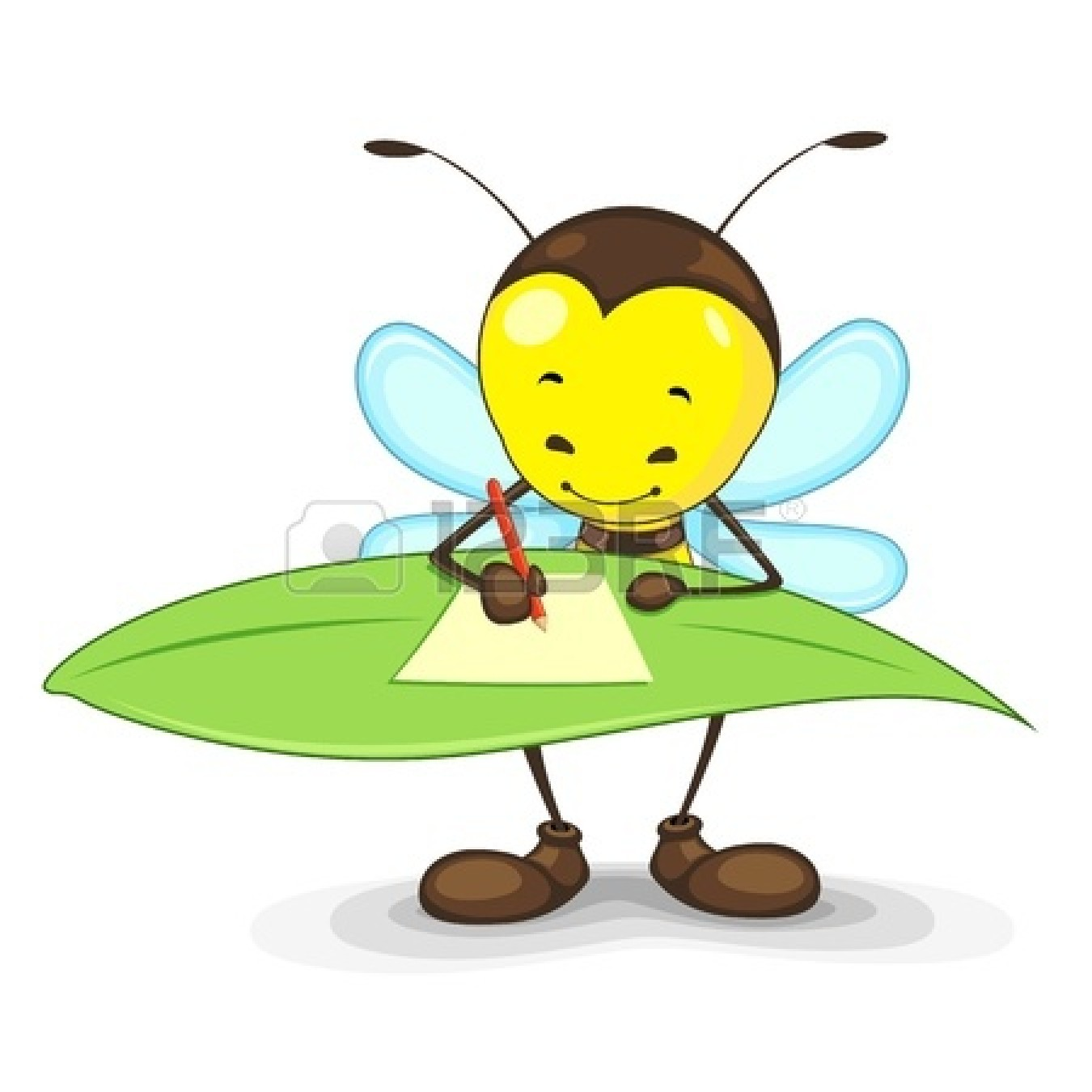 Bee clipart writing picture black and white library bee writing on.. clipart | Clipart Panda - Free Clipart Images picture black and white library