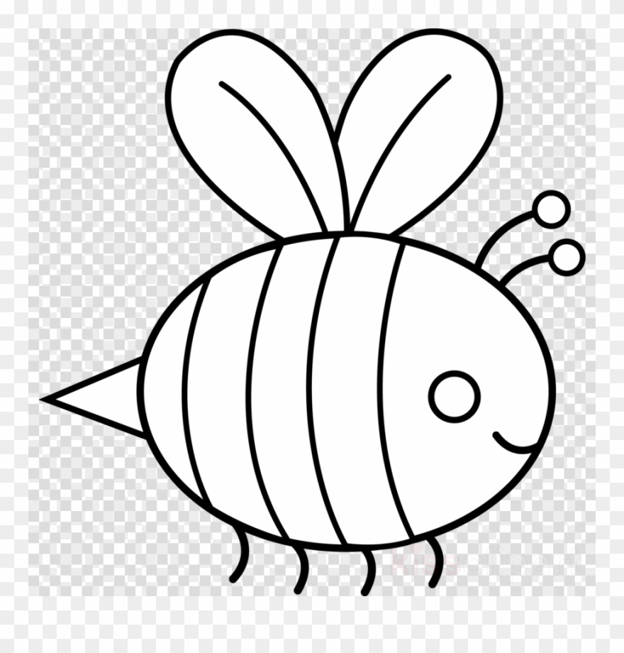 Black white outline clipart vector black and white library Bumble Bee Outline Clipart Bee Drawing Clip Art - Bee Clipart Black ... vector black and white library