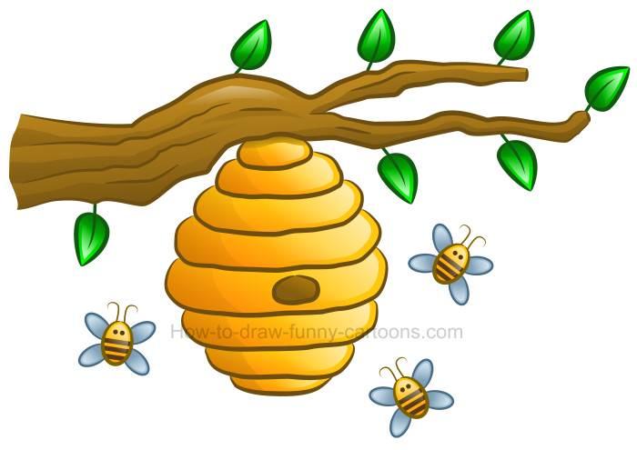 Bee hie clipart jpg download How to Draw a Beehive Clipart jpg download
