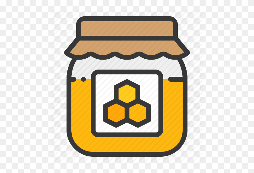Bee farm clipart clip art royalty free download 512x512 Bee, Farm, Honey, Honey Jar, Jar, Sweet Icon - Honey Jar ... clip art royalty free download