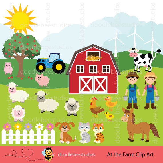 Bee farm clipart stock Farm Animals Clipart stock