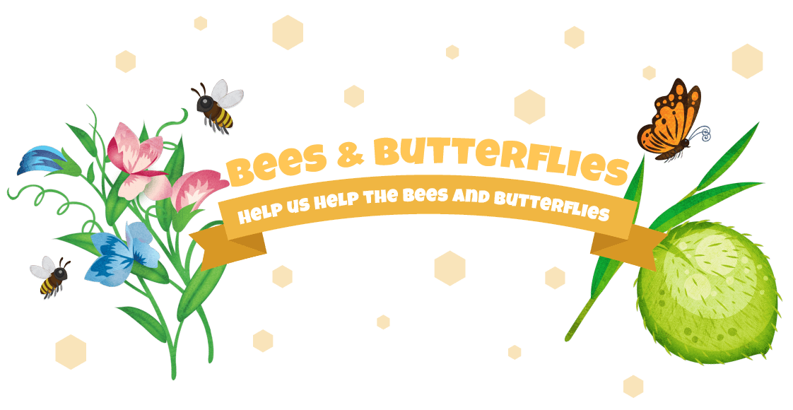 Bee flower clipart graphic free library Bees & Butterflies | Little Garden graphic free library
