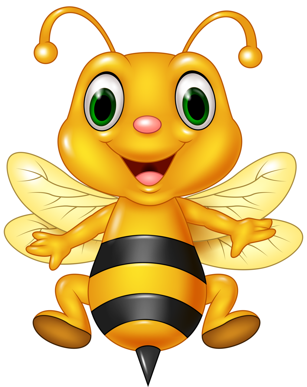 Bee on flower clipart png black and white library Funny cartoon animals vector (8) [преобразованный].png | Pinterest ... png black and white library