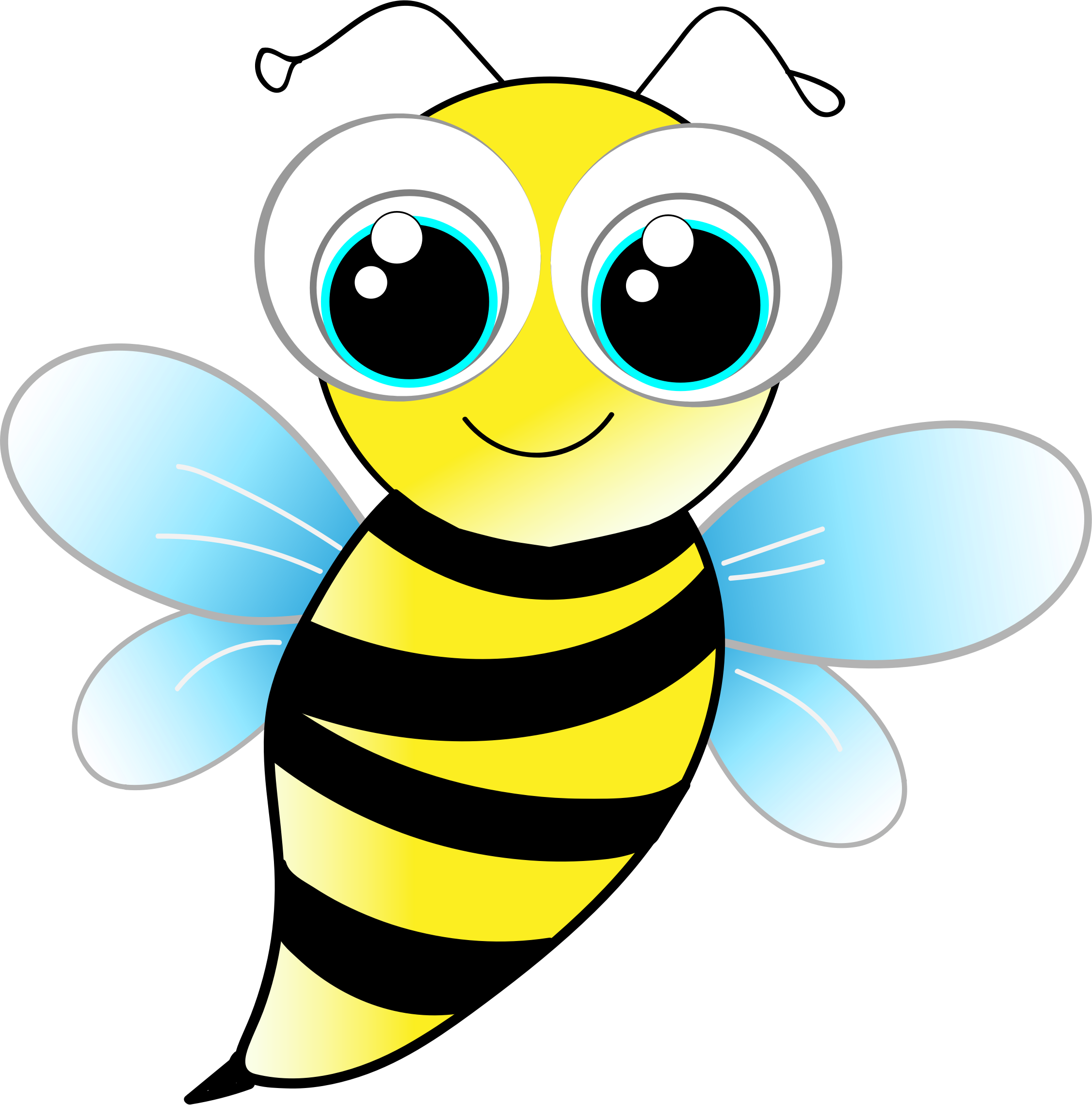 Halloween bumblee clipart banner royalty free library Bee by @a.tauzzi, A big-eyed bee., on @openclipart | bulletin boards ... banner royalty free library