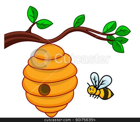 Bee hive image clipart free library bee hive clip art | illustration of isolated beehive branch stock ... free library