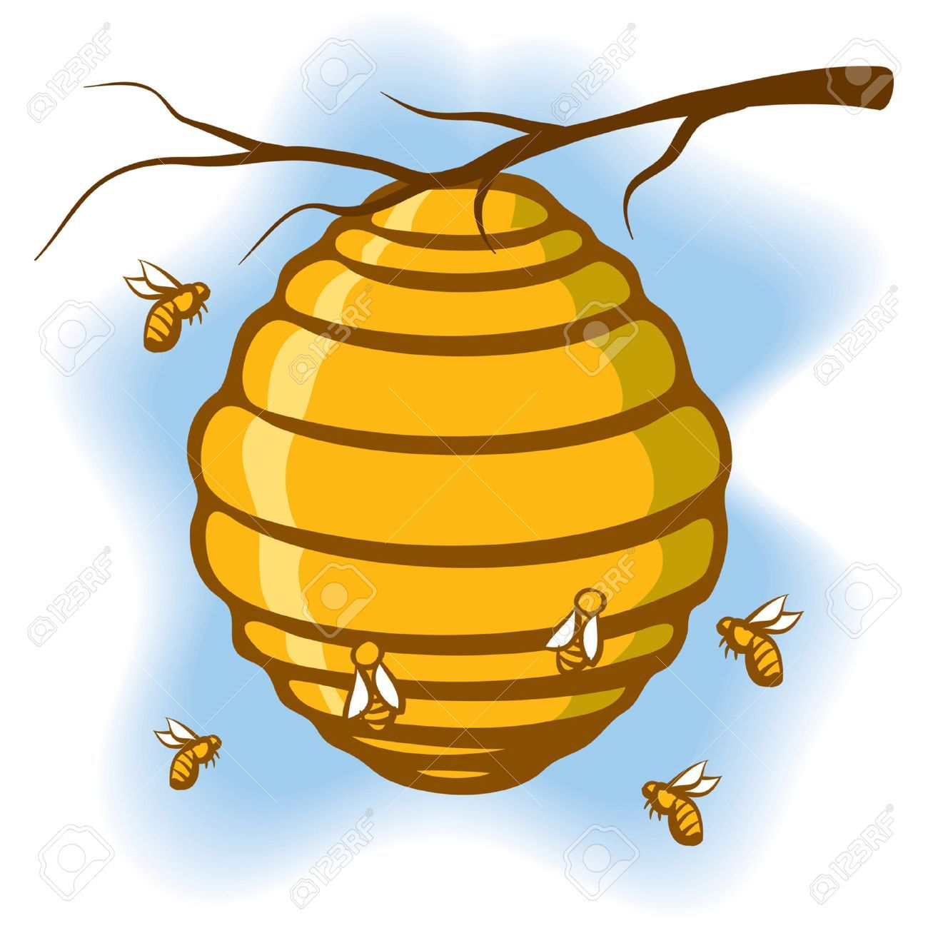 Bee hives in trees clipart clip art transparent stock Animated Bee Hive | Free download best Animated Bee Hive on ... clip art transparent stock