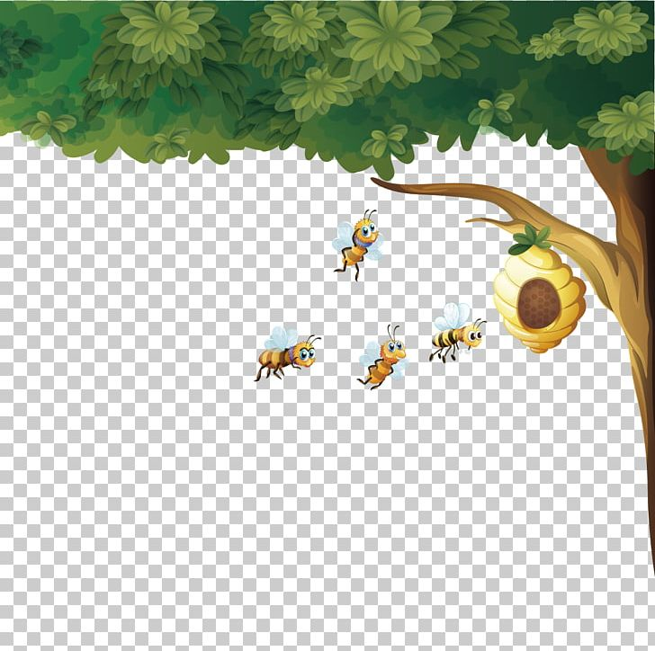 Bee hives in trees clipart free library Beehive Honey Bee Euclidean PNG, Clipart, Apis Florea, Bee, Bee Hive ... free library