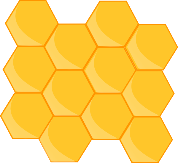 Bee honeycomb clipart image transparent cartoon bee and beehive images | My-hive Clip Art at Clker.com ... image transparent