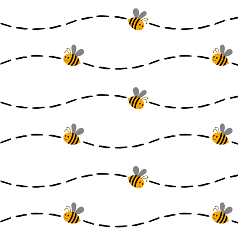 Bee line clipart png transparent download Bee line wallpaper - keweenawchris - Spoonflower png transparent download