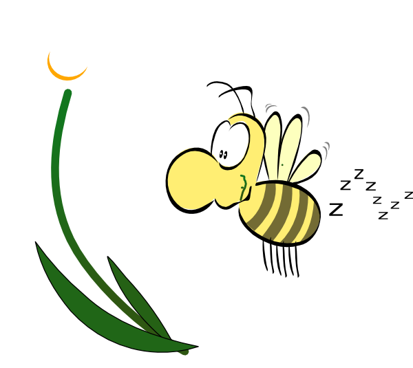 Bee with flower clipart picture freeuse Bee Clip Art at Clker.com - vector clip art online, royalty free ... picture freeuse