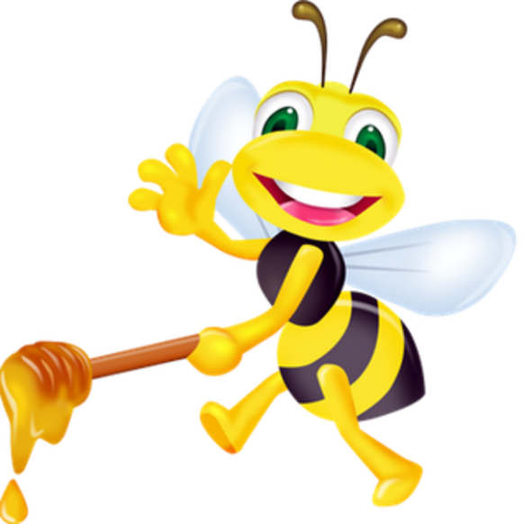 Bee on apple blossom clipart clip royalty free library Bee-Inspired-Blends clip royalty free library