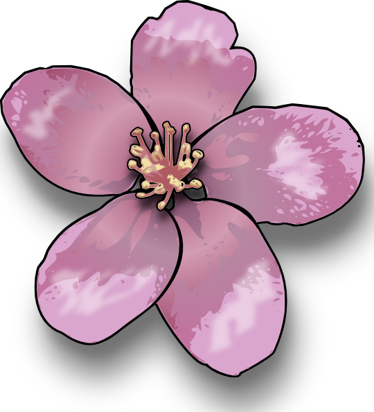 Bee on apple blossom clipart png library library free vector Apple Blossom clip art graphic available for free ... png library library