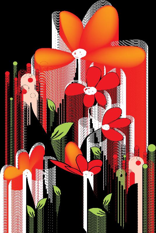 Flower doodle clipart graphic black and white library Flores Ilustraciones en PNG para Artesanía y Diseños Primavera ... graphic black and white library