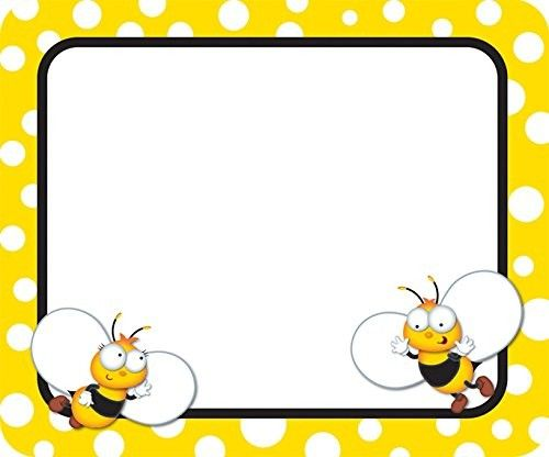 Bumble bee border clipart graphic royalty free download Pin by Stephanie Field on Bees | Bee, Name tags, Bee crafts graphic royalty free download