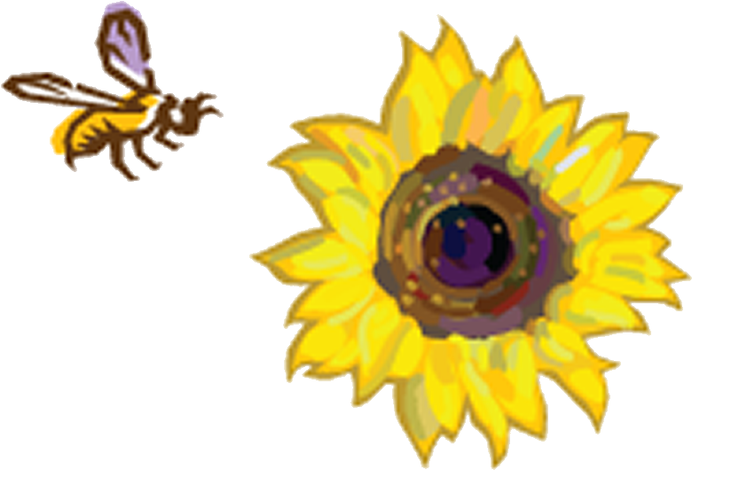 Bee pollinating flower clipart banner free stock Join the Hunt for Bees —The Great Sunflower Project | banner free stock