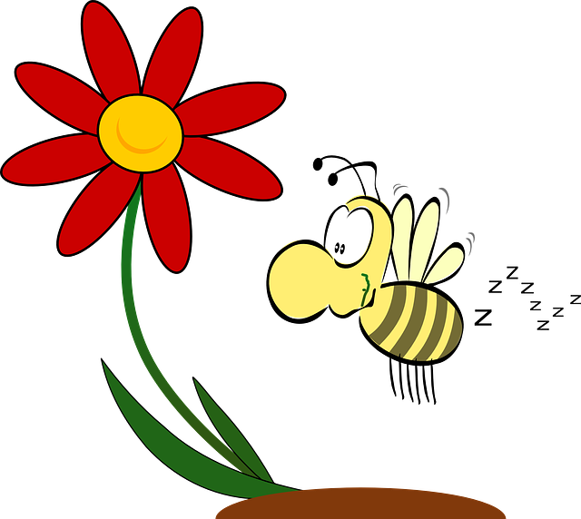 Bee pollinating flower clipart svg library stock wind-pollinated plants – Laidback Gardener svg library stock