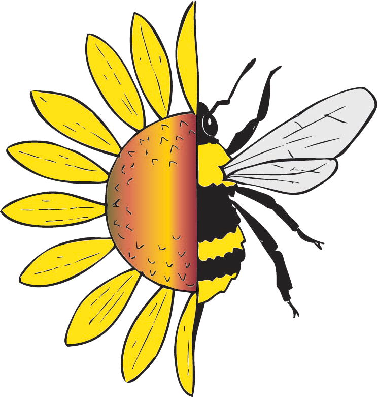 Bee pollinating flower clipart svg library library About – Native Beeology svg library library