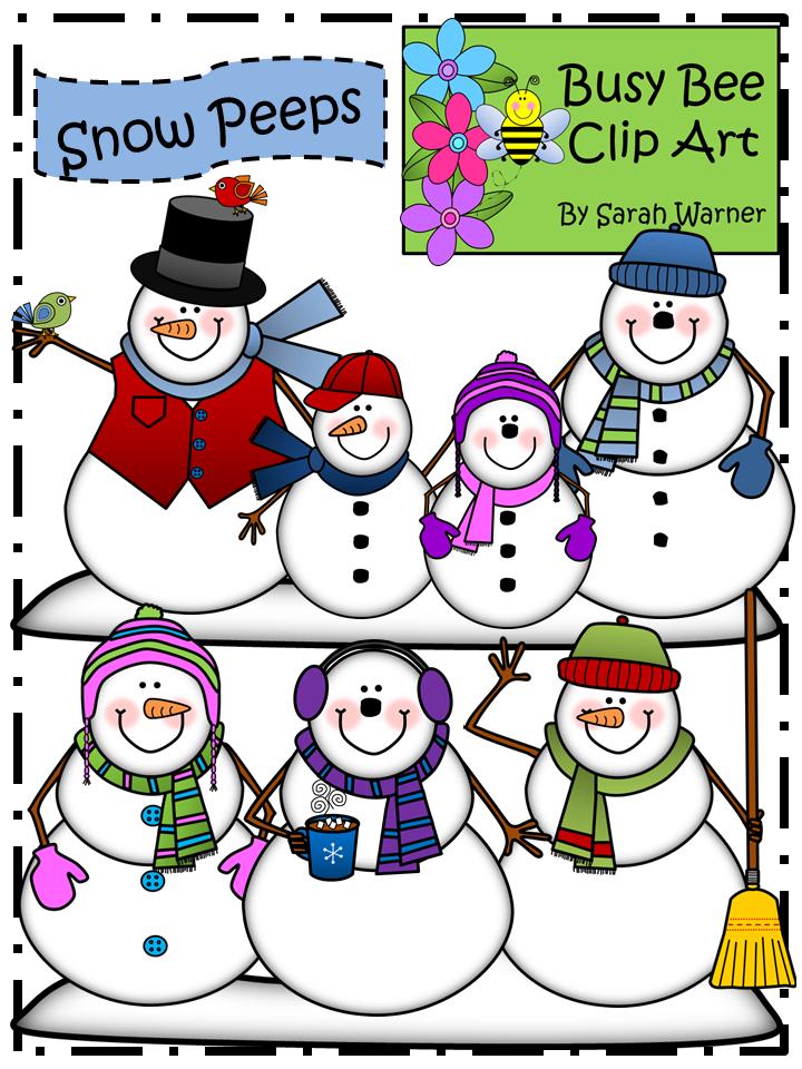 Bee snow clipart png transparent Snowman Clip Art: Snow Peeps! {By Busy Bee Clip Art} | Clip Art ... png transparent