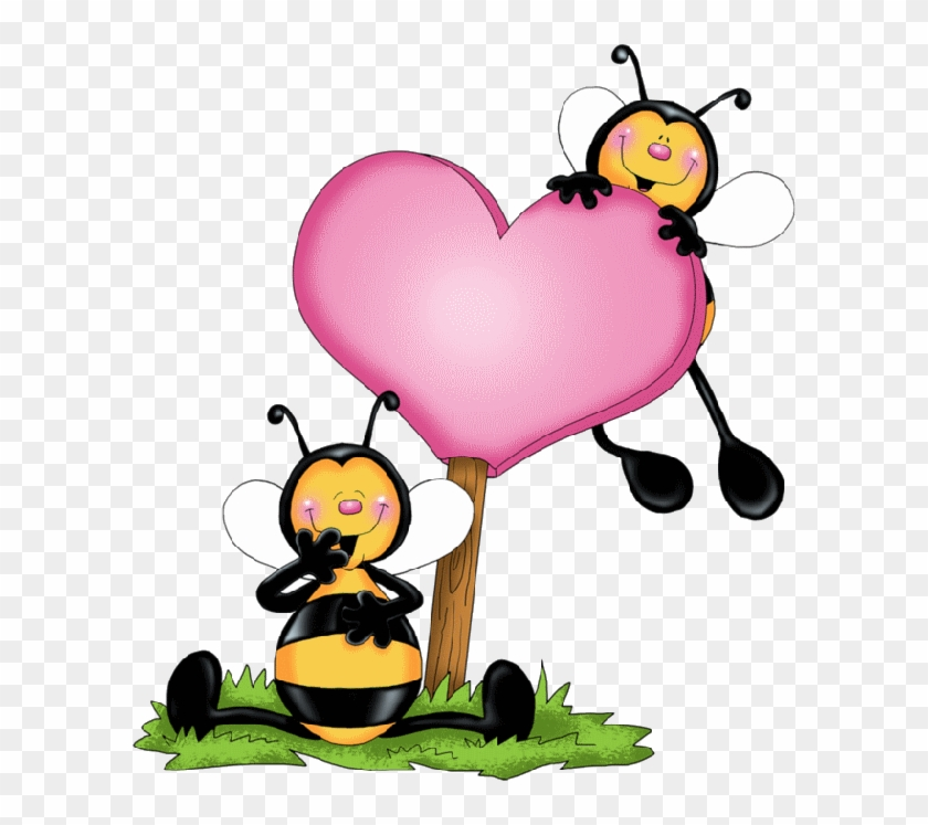 Bee valentine clipart graphic library download Bees And Heart - Valentine Bee, HD Png Download - 600x667 (#81526 ... graphic library download