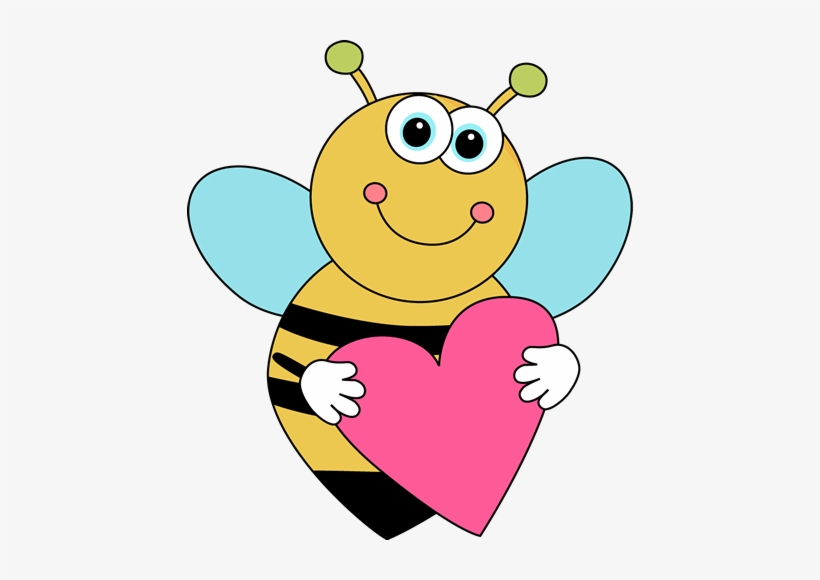 Bee valentine clipart image black and white Love Cute Bee Clipart - Cartoon Valentines Day - Free Transparent ... image black and white