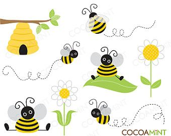 Bee with a banner clipart royalty free Items similar to Bumble Bee Banner/ Bumble Bee Birthday on Etsy ... royalty free