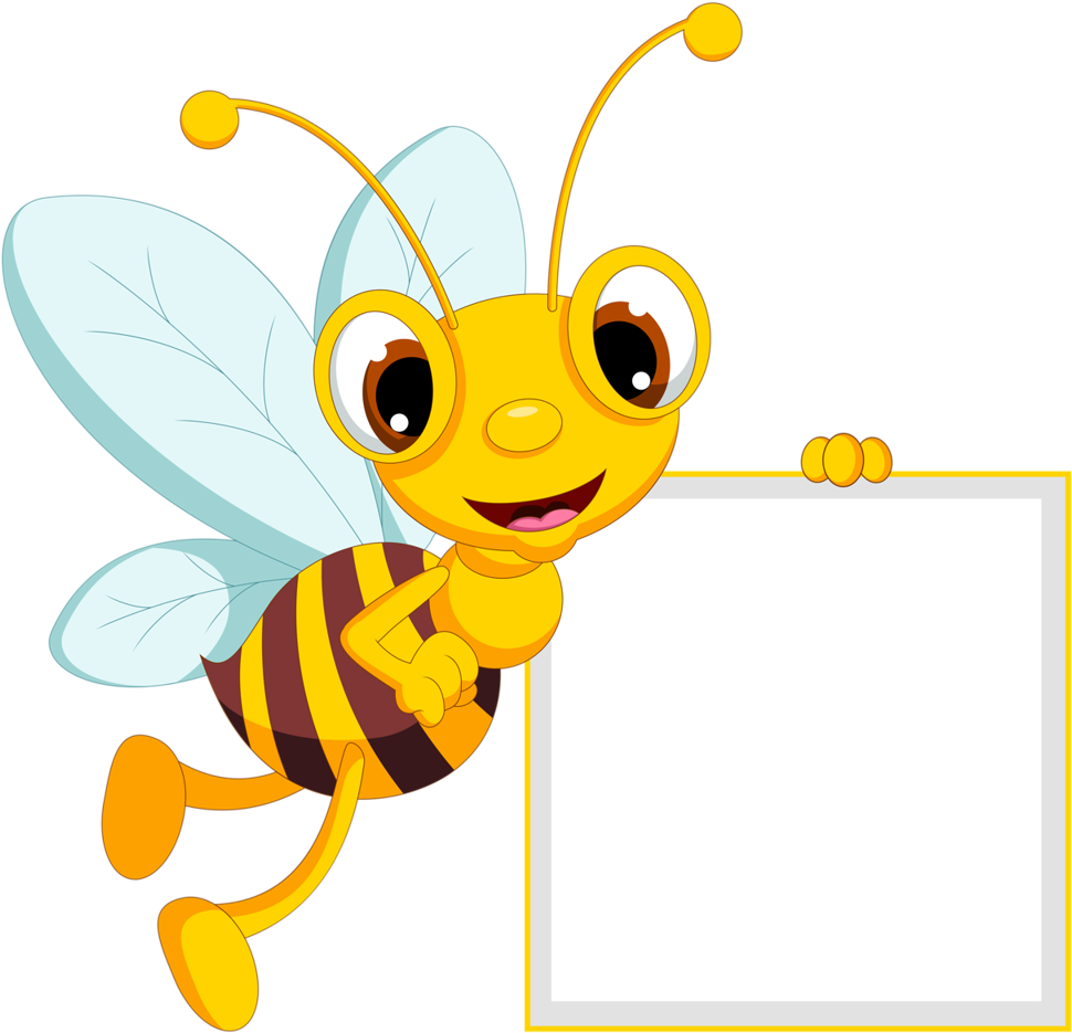 Bee with a banner clipart black and white stock Banner Transparent Download Bumble Bee Flying Clipart - Cute Border ... black and white stock