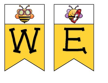 Bee with a banner clipart image stock Bumble Bee Welcome Banner image stock