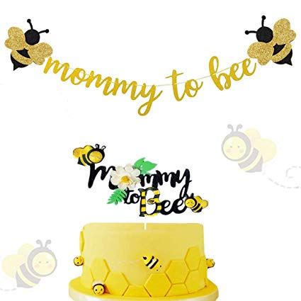 Bee with a banner clipart clipart transparent download Amazon.com: Pack of 2 JeVenis Mommy To Bee Banner Bee Baby Shower ... clipart transparent download