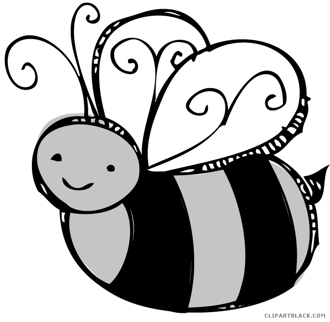 Bee with flower clipart black and white free library Bee - Page 21 of 24 - ClipartBlack.com free library