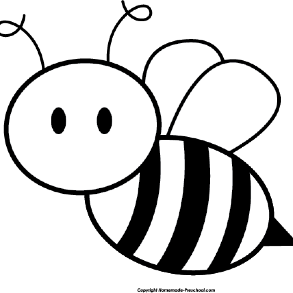 Bee with flower clipart black and white graphic transparent stock Bee Clipart Black And White butterfly clipart hatenylo.com graphic transparent stock
