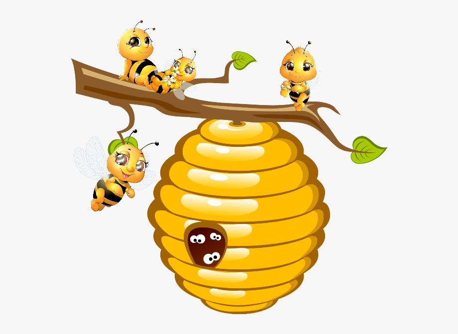 Library of bees honey clip art freeuse library png files ...