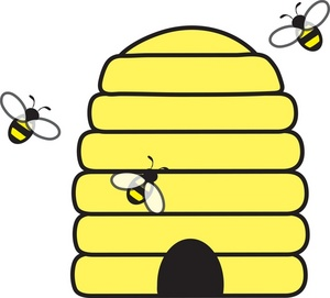 Beehive bee clipart jpg Honeybee beehive honey bee clipart kid - ClipartBarn jpg