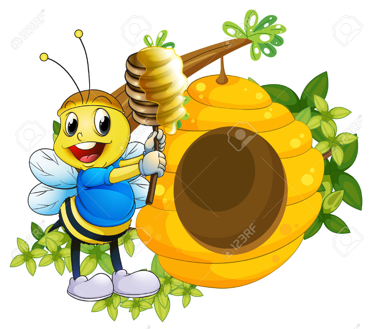 Beehive from tree clipart jpg freeuse Bee Hives On Tree Stock Photos Images. Royalty Free Bee Hives On ... jpg freeuse