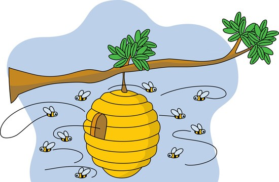 Beehive from tree clipart clip free download Bee hive in tree clipart - ClipartFest clip free download
