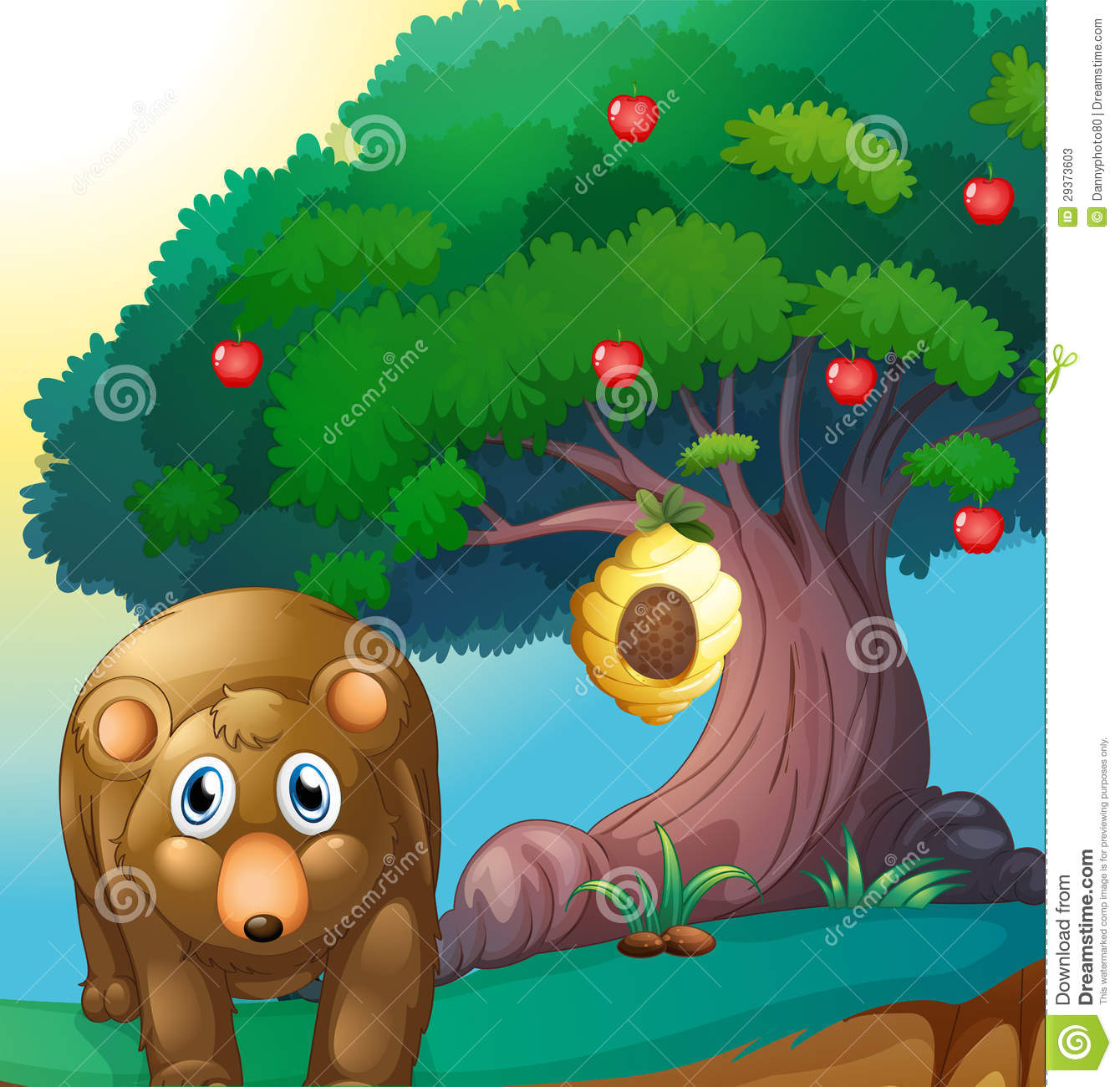 Beehive from tree clipart graphic free library Beehive on a tree clipart - ClipartFox graphic free library
