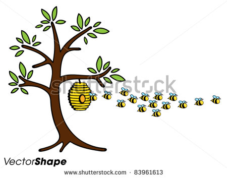 Beehive from tree clipart png free download Bees Working Stock Photos, Royalty-Free Images & Vectors ... png free download