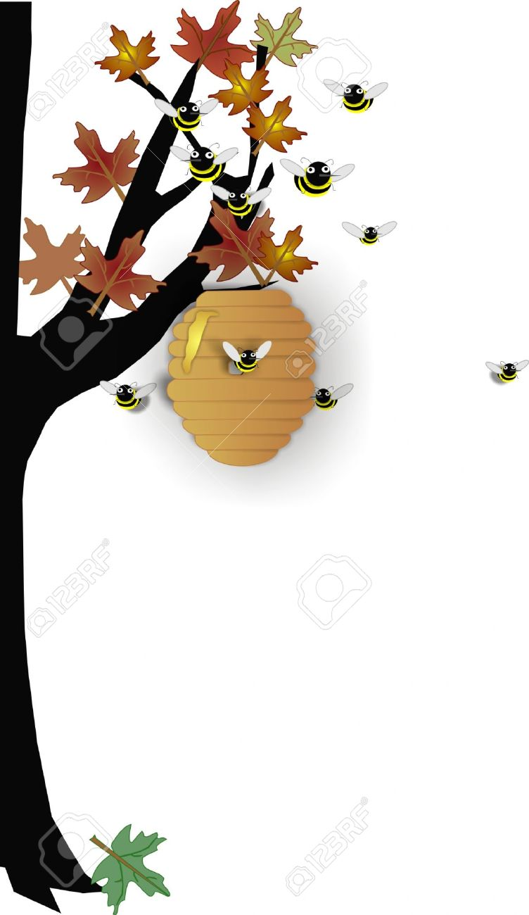 Beehive from tree clipart png freeuse download Bee hive in tree clipart - ClipartFest png freeuse download