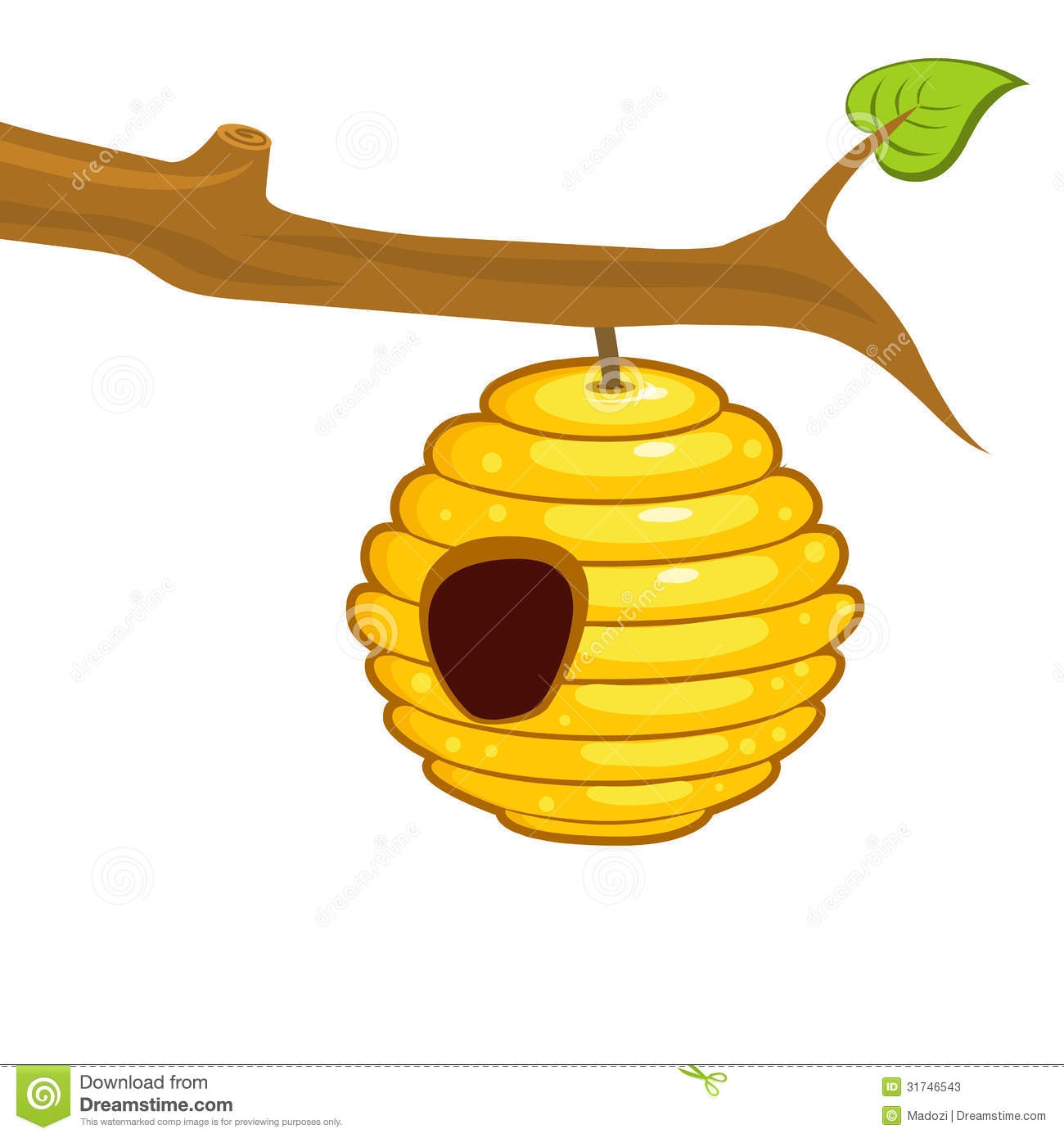 Beehive from tree clipart jpg transparent stock Beehive In Tree Clipart - clipartsgram.com jpg transparent stock