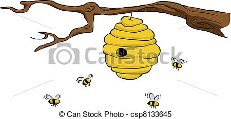 Beehive from tree clipart vector royalty free download Beehive Vector Clipart EPS Images. 2,634 Beehive clip art vector ... vector royalty free download