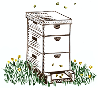 Beehive homes clipart clipart royalty free library baby bees house: Free bee hive drawing | Preschool printables in ... clipart royalty free library