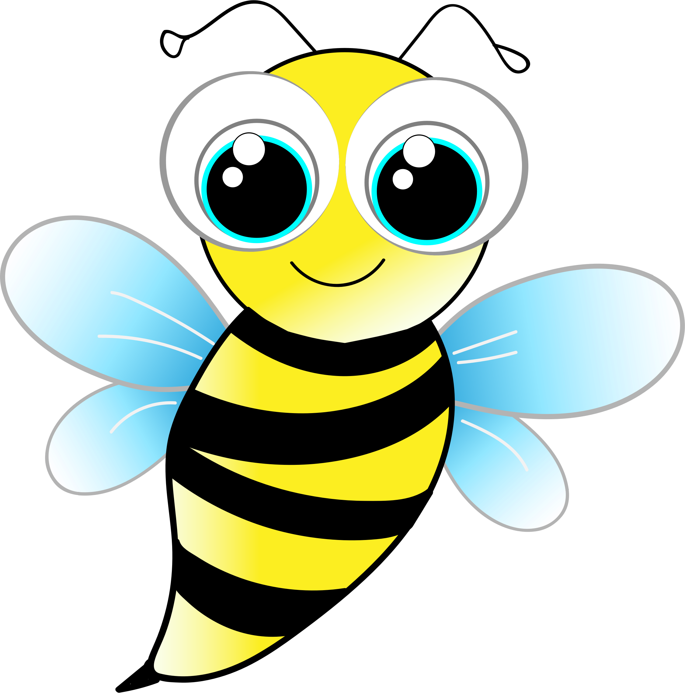 Beehive on a tree clipart clip freeuse library Friendly Bee by @GDJ, From Pixabay., on @openclipart | The Bees ... clip freeuse library