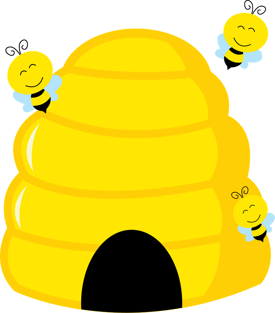 Beehive in tree clipart graphic freeuse stock Abelhinhas - Minus | Bees ผึ้ง | Pinterest | Bees, Clip art and ... graphic freeuse stock