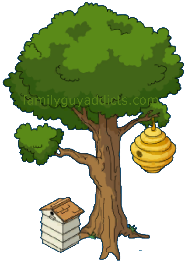 Beehive in tree clipart vector library Cartoon Tree With Beehive | Cartoonview.co vector library