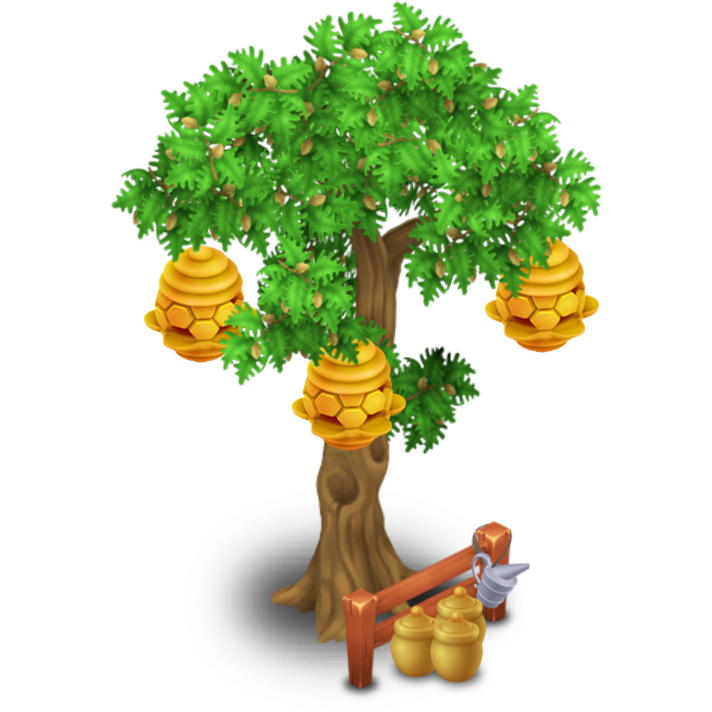 Beehive in tree clipart png black and white stock Beehive Tree | Hay Day Wiki | FANDOM powered by Wikia png black and white stock