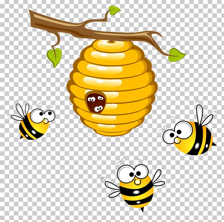Beehive with 1 bumblebee clipart vector freeuse download Honey Bee Beehive Bumblebee PNG, Clipart, Bee, Beehive, Bee Hive ... vector freeuse download