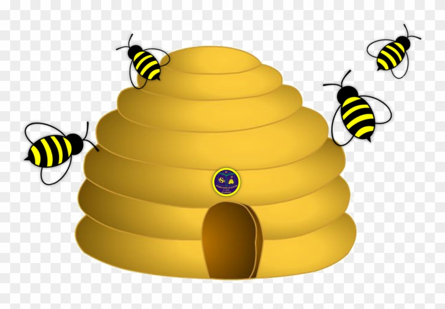 Beehive with 1 bumblebee clipart clip black and white download Bee Hive Clipart Yellow Bee - Bumble Bee Clip Art - Png Download ... clip black and white download