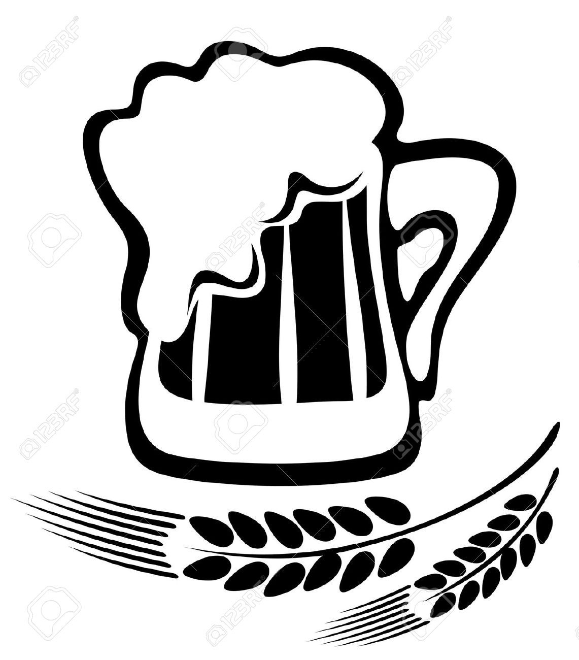Beer and wine clipart black and white svg transparent library Beer Mugs Clipart Black And White images | Brews & Brushes | Beer ... svg transparent library