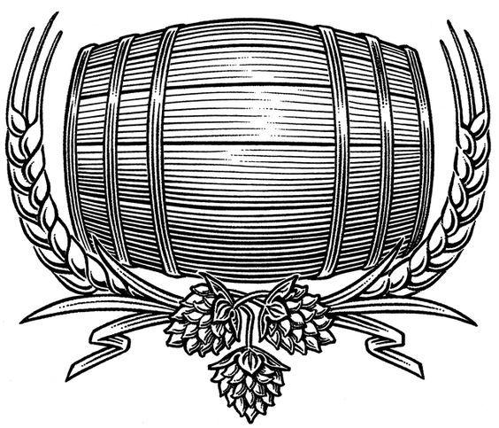 Beer barrel clipart drawing image royalty free stock Beer art: Beer Barrel Illustration #beertatoo #beerartideas ... image royalty free stock